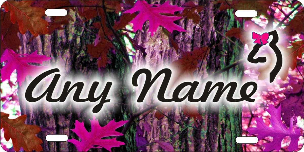 Personalized Novelty License Plate Any Name On Pink Red