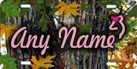 red oak camo background Custom License Plates, Personalized License Plates, Decorative License Plates, Front License Plates, Car Tags, airbrush