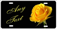 Yellow rose personalized novelty front license plate decorative vanity front car tag