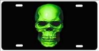 Green skull custom car tag Custom License Plates, Personalized License Plates, Decorative License Plates, Front License Plates, Car Tags, airbrush
