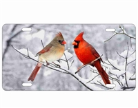 Snowbirds Cardinal Couple personalized novelty front license plate
