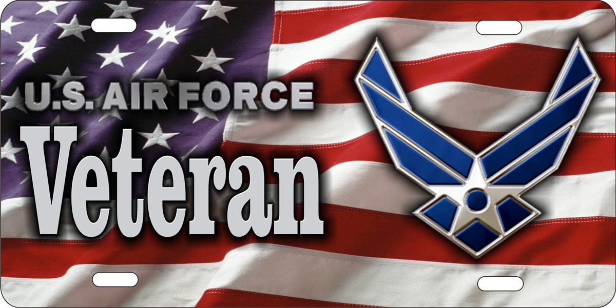 Personalized Novelty License Plate Us Air Force Veteran