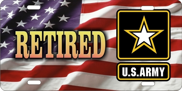 Personalized Novelty License Plate Us Army Retired On