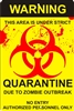 Biohazard Zombie outbreak quarantine sign personalized aluminum sign Novelty Custom signs, personalized signs, Decorative signs, Aluminum signs, airbrush