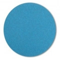 "5"" x NH"" Blue Zirconia Cloth Heavy Duty Hook and Loop Sanding Discs 24 grit"