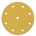 "5"" x 9 Hole Hook and Loop<br>Gold Discs 600 grit"