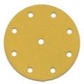 "5"" x 9 Hole Hook and Loop<br>Gold Discs 800 grit"
