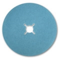 "7"" x 7/8"" Blue Zirconia Cloth Heavy Duty Edger Sanding Discs with Slots 60 grit"