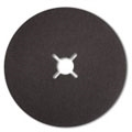 "7"" x 7/8"" Black Silicon Carbide Paper Heavy Duty Edger Sanding Discs with Slots 24 grit"