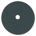 "16"" Black Silicon Carbide Cloth Heavy Duty Double Sided Sanding Discs 12 grit"