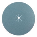 "7"" x 5/16"" Blue Zirconia Paper Heavy Duty Edger Sanding Discs with Slots 80 grit"