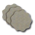 35mm 2000 grit Scallop Edge Hook and Loop Nibbing Discs