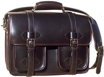 Scholar with pockets laptop Leather Briefcase