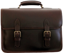 Classic Leather Briefcase by Custom Hide