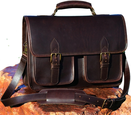 Slinger Leather Briefcase by Custom Hide