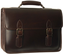 Organizer leather laptop briefcase
