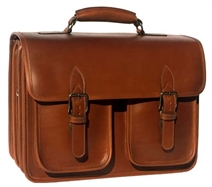 Ranger 3 Compartment Leather Briefcase