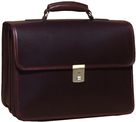 Advocate Leather Laptop Briefcase