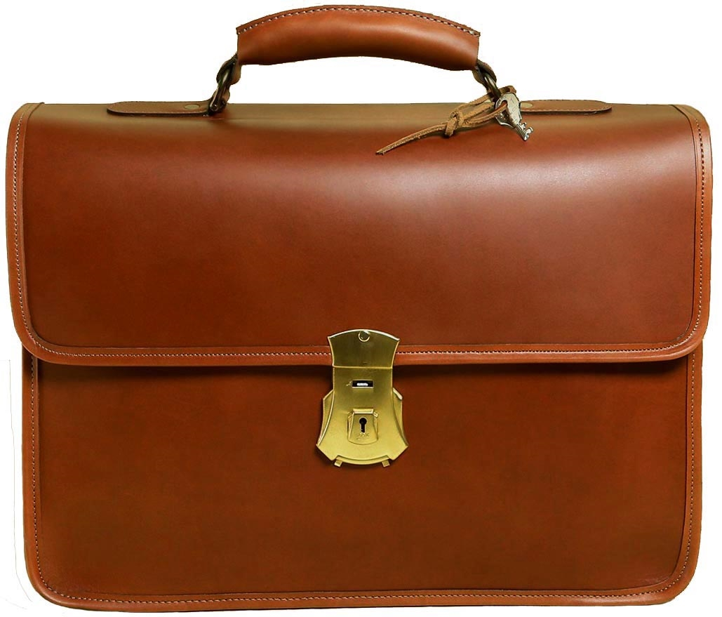 6aa29bf4a Vintage Leather Briefcase Made in USA | Customhide.com