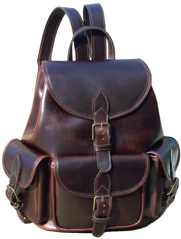 Original Large Leather Backpack. Made in USA | Customhide.com