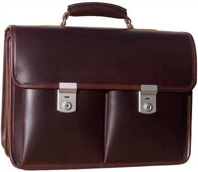 Litigator Leather Lawyer Briefcase