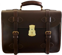 1945 US Army Leather Briefcase Single Compartment
