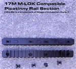 17 Slot M-LOK Compatible Picatinny Rail Section w/ 4 screws and nuts