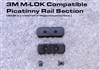 3 Slot M-LOK Compatible Picatinny Rail Section w/ 2 screws and nuts
