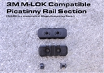 3 Slot M-LOK Compatible Picatinny Rail Section w/ 3 screws and nuts