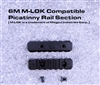 6 Slot M-LOK Compatible Picatinny Rail Section w/ 2 screws and nuts