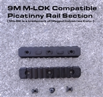 9 Slot M-LOK Compatible Picatinny Rail Section w/ 3 screws and nuts