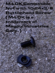 M-LOK Compatible Nut and Buttonhead Screw