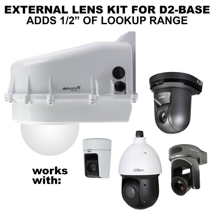 D2 Base Model Camera Enclosure with Extended Size External Lens Kit (D2-BASE-EXT)