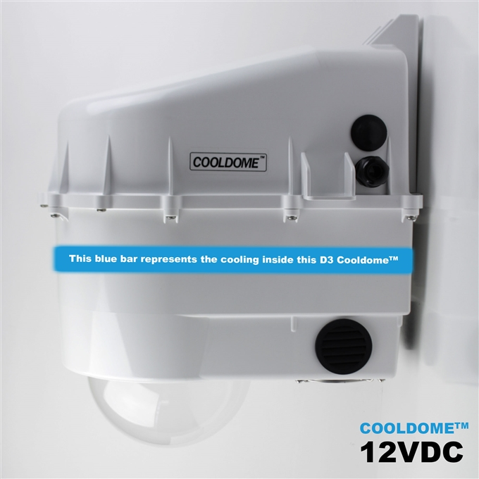 Dotworkz D3 COOLDOME™ 12VDC Active Cooling Camera Enclosure (D3-CD IP66)