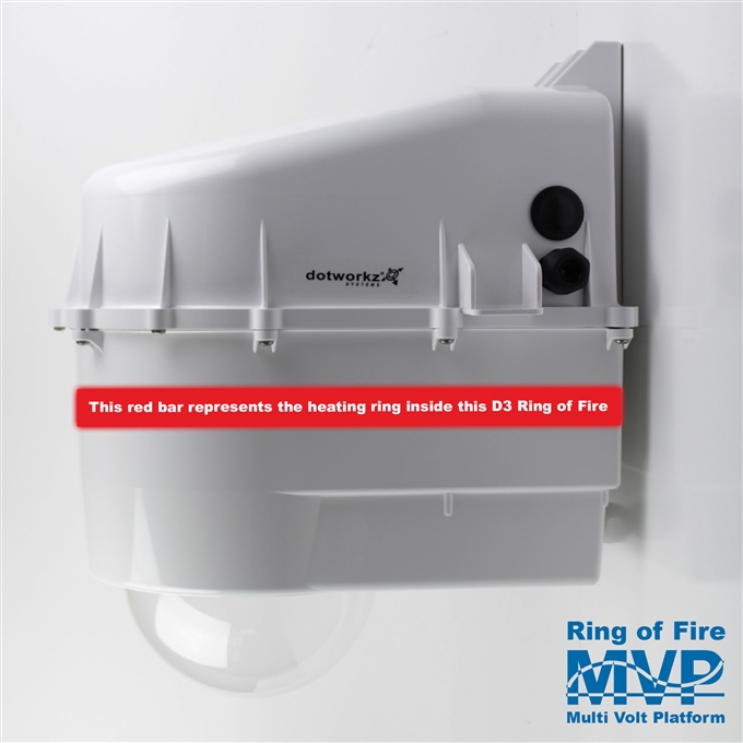 Dotworkz D3 Ring of Fire De-Icing Camera Enclosure IP68 with MVP (D3-RF-MVP)