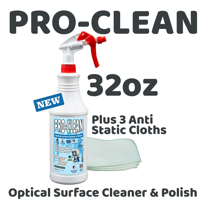 Dotworkz Pro-Clean Lens Cleaning Solution 32oz (DW-32OZ-SOL)