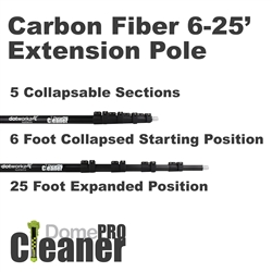 DomeCleanerPRO 25 Foot Carbon Fiber Extension Pole (DW-EP25)