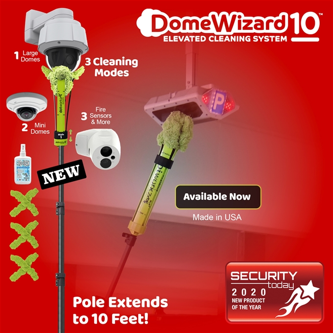 DomeWizard 10ft – Elevated Cleaning System with Multiple Cleaning Modes (DW-PKG-10-CF)