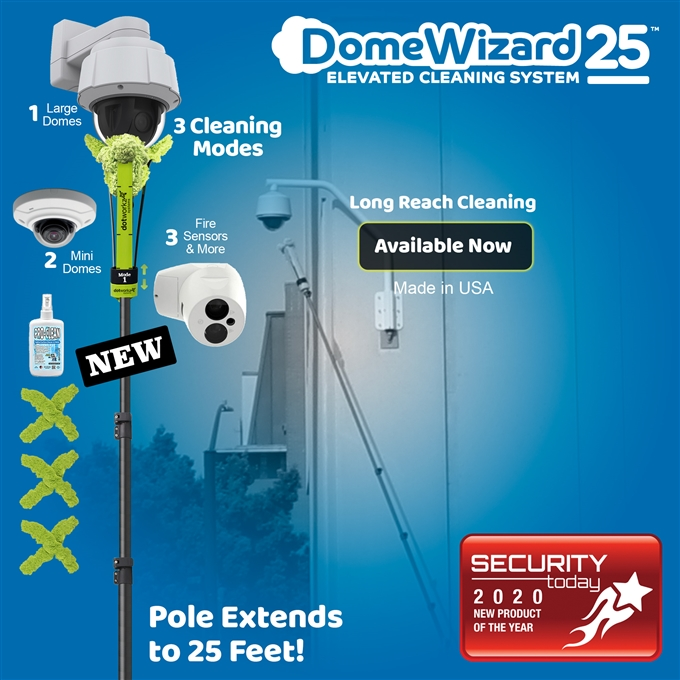 DomeWizard 25ft – Elevated Cleaning System with Multiple Cleaning Modes (DW-PKG-25-CF)