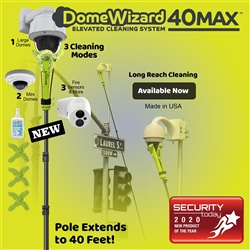 DomeWizard 40Max - Elevated Cleaning System with Multiple Cleaning Modes (DW-PKG-40-CF)