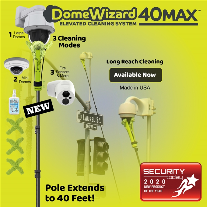 DomeWizard 40ft Max – Elevated Cleaning System with Multiple Cleaning Modes (DW-PKG-40-CF)
