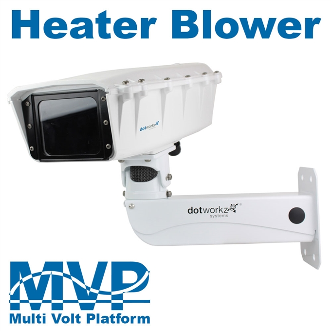 S-Type IP66 Heater Blower Camera Housing and Stainless Steel Arm (ST-HB-MVP-SS)