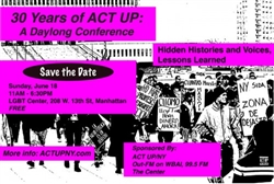 30 Years of ACT UP/NY: Hidden Histories and Voices, Lessons Learned-CD