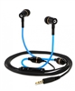 Deluxe Blue Tube Earbuds