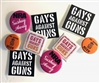 Gays Against Guns Button Set