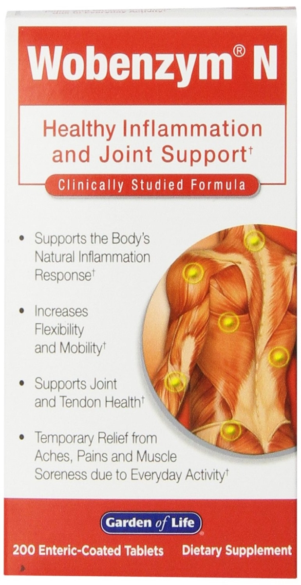 Wobenzym, Wobenzym N, 200 Enteric-Coated Tablets Healthy Inflammation and  Joint Support