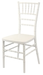 White STEEL CORE Black Discount Resin Chiavari Chair
