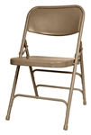 Beige Metal Folding Chairs