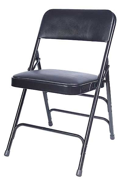 Metal Vinyl Folding Discount Chairs