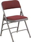 Burgundy Metal Folding Chairs